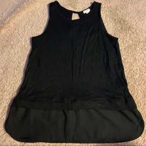 Black J Crew sleeveless tank size xs